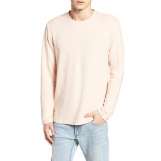 Men Stripe Crewneck Sweater Perfect color comfortable cutting Pink Ash NFPMNII