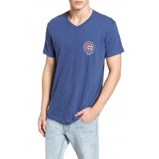 Men 47 Brand MLB Grit Scrum Chicago Cubs T-Shirt Perfect color comfortable cutting Bleacher Blue VIALHRK