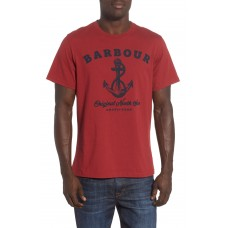 Men Anchor Graphic T-Shirt Perfect color comfortable cutting Biking Red AKTWNUX