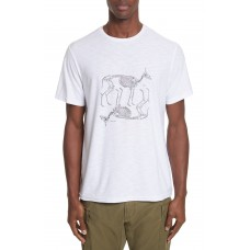 Men Animal Skeleton Graphic T-Shirt Perfect color comfortable cutting White AWAHATP