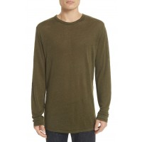 Men Owen Long Sleeve T-Shirt Perfect color comfortable cutting Army ZIXQWWF