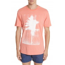 Men Palms Graphic T-Shirt Perfect color comfortable cutting Coral PVDIAZG