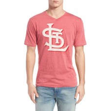 Men 'Saint Louis Cardinals - Calumet' Graphic V-Neck T-Shirt Perfect color comfortable cutting Red WWCVPVL