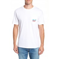 Men Whaley USA Whale Fill Pocket T-Shirt Perfect color comfortable cutting White Cap ADCOPKM