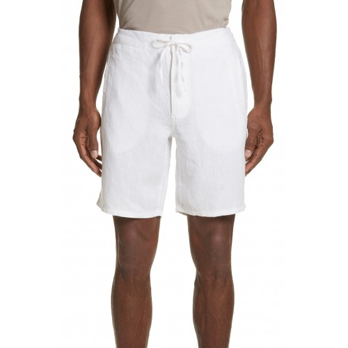 Men Max Linen Shorts Perfect color comfortable cutting White BXCPGHO
