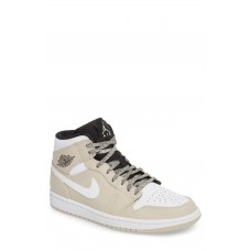 Men 'Air Jordan 1 Mid' Sneaker Comfortable feet make you a gentleman Black/ Black/ White AJXLJPN