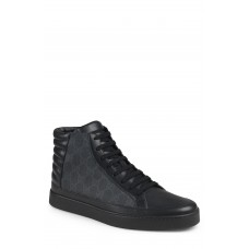 Men 'Common' High Top Sneaker Comfortable feet make you a gentleman Black/ Graphite Leather KNIVOOL