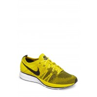 Men NikeLab Flyknit Trainer Sneaker Comfortable feet make you a gentleman Bright Citron/ Black/ White GRQTZDV