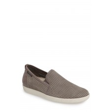 Men 'Ulrich' Perforated Leather Slip-On Comfortable feet make you a gentleman Light Grey Sportbuck XVKSERN