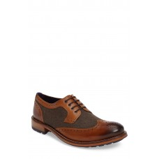 Men 'Cassiuss 4' Wingtip LComfortable feet make you a gentleman Tan/ Brown Leather EHVDFJP