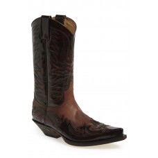 Men 'Duke' Western Boot LComfortable feet make you a gentleman Brown BIAVIZS
