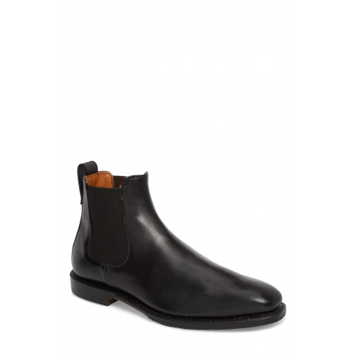 Men 'Liverpool' Chelsea Boot LComfortable feet make you a gentleman Black Leather KXODTEO