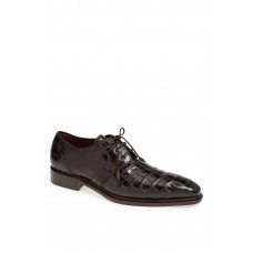 Men 'Marini' Alligator Leather Derby LComfortable feet make you a gentleman Black TGMXGXW