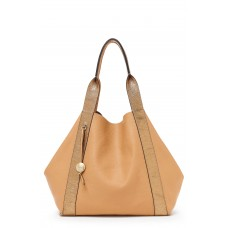 Women Baily Reversible Calfskin Leather Tote Comfortable and elegant Sand AOWGLMU
