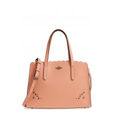 Women Charlie Studded Leather Tote Comfortable and elegant Dark Blush GFFZKUB