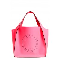 Women Extra Large Perforated Logo Faux Leather Tote Comfortable and elegant Pink Fluo YHCAAYK