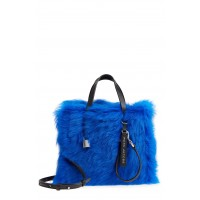 Women Mini The Grind Genuine Shearling Tote Comfortable and elegant Sapphire FVXPIOP