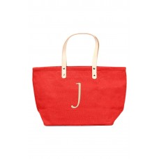 Women 'Nantucket' Monogram Jute Tote Comfortable and elegant Red TVWACUS
