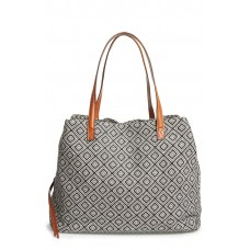 Women 'Oversize Millie' Tote Comfortable and elegant Black White Geo YIICZSK