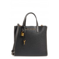 Women The Grind Mini Colorblock Leather Tote Comfortable and elegant Black/ Gold KGKVKPP