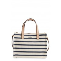 Women washington square - sam canvas handbag Comfortable and elegant Rich Navy Stripe YOTKSAC
