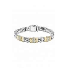 Women 'Caviar' Diamond Station Bracelet Comfortable and elegant Silver/ Gold YXFFMYY