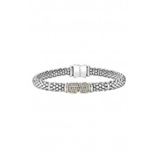 Women 'Cushion' Diamond Caviar Bracelet Comfortable and elegant Silver/ Gold PDEOLHW
