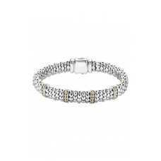 Women 'Enso' Two-Tone Rope Caviar™ Bracelet Comfortable and elegant Silver/ Gold UEBCQXC