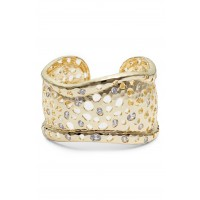 Women Honey Cuff Comfortable and elegant Gold/ White Cz WEWYFAZ