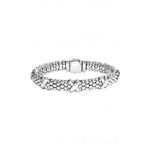Women 'Signature Caviar' Oval Rope Bracelet Comfortable and elegant Sterling Silver SOPSOZG