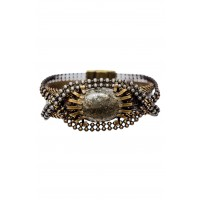Women Stone & Snakeskin Bracelet Comfortable and elegant Bronze/ Silver/ Gold AAWPAHG