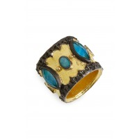 Women Old World Cigar Band Ring Comfortable and elegant Gold NOYWYAQ