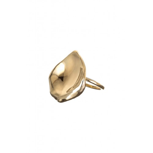 Women Rose Petal Ring Comfortable and elegant Gold Vermeil FGGBQRR