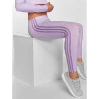 adidas originals Women Legging/Tregging 3 Stripes in purple purple 93% cotton 7% spandex elastic waistband closes the hips safely DU8491 KTFSLIU