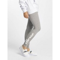 Ellesse Women Legging/Tregging Solos in grey rubberised brand logo print on the right trouser leg SGS04703AGRYMAR MNPEJAV
