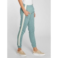 Just Rhyse Women Sweat Pant Calasetta in turquoise turquoise mottled 80% cotton 20% polyester Drawcord on the outside of the elastic waistband provides a firm hold JLSP225TUR JLUWOAU