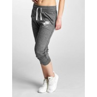 Nike Women Sweat Pant Gym Vintage in grey gray / white 60% cotton 40% polyester Drawstring outside the elastic waistband ensures a firm fit 883723060 UEBAVRM