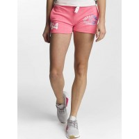 Superdry Women Short Track And Field Lite in pink pink 57% polyester 43% cotton Drawcord on the outside of the elastic waistband ensures a secure fit G71001PQMT2 TTECXCS