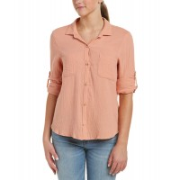 Women Glam Top Approximately 26in from shoulder to hem Peach 454779501 GFXQXFI