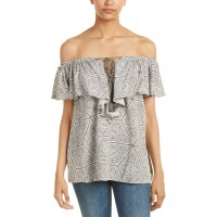 Women Mustard Seed Ruffled Cold-Shoulder Top Approximately 25in from shoulder to hem Olive 444446501 ASUGBFT
