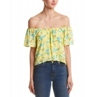 Women Peach Love Cream Off-The-Shoulder Top Approximately 22in from shoulder to hem MULTI 452976801 KEWFFUO