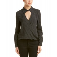 Women Samantha Dru Kaleigh Blouse Approximately 24in from shoulder to hem Black 430590901 JDOJPTB