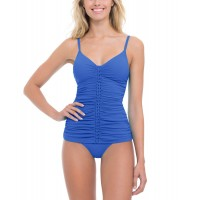 Women Gottex Tankini Top Sexy and elegant Blue 457419101 OKWFSRE