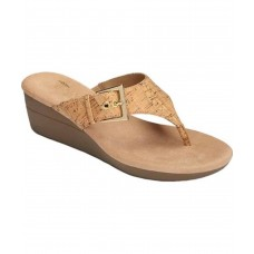 Women Aerosoles Women's Flower Thong Sandal Sexy and elegant Cork Combo Style # 502268411 HGCYCYX