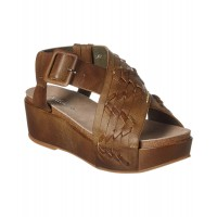 Women Antelope 401 Leather Wedge Sandal Sexy and elegant Brown Style # 489801701 ZOQKYDQ