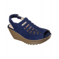 Women Skechers Women's Parallel Trapezoid Platform Wedge Sandal Sexy and elegant Navy Style # 508276302 NGYJFJM