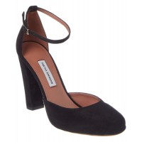 Women Tabitha Simmons Petra Suede Ankle Strap Pump Sexy and elegant Black Style # 409367701 TEPTLRG
