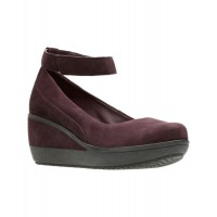 Women Clarks Women's Wynnmere Fox Wedge Sexy and elegant Purple Style # 462986401 ANWVESC