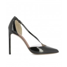 Women Francesco Russo Women's Black Patent Leather Heels Sexy and elegant Black Style # 453861401 KSRZISB