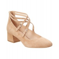 Women Via Spiga Kid Suede Pump Sexy and elegant Tan Style # 466254201 BQJLPHH